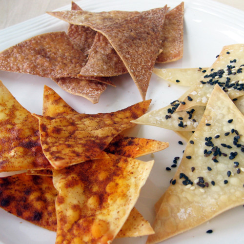 Tasty Treats: Homemade Snacks: Wonton Crisps