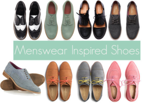 Menswear shoes for women Clothing stores