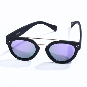 Deni Round Black Sunglasses
