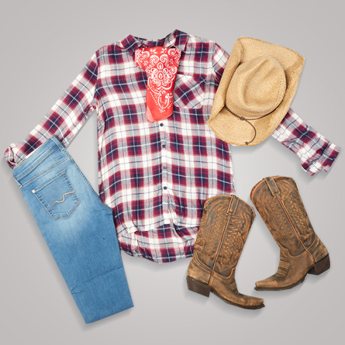 Easy DIY Halloween Costumes: Cowgirl