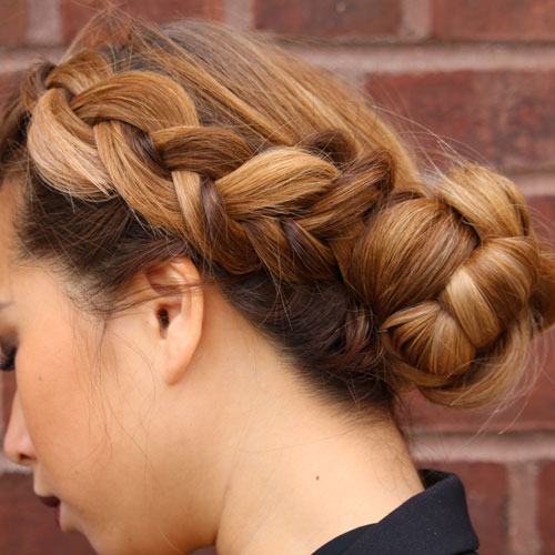 Double Dutch Braid Bun Neroli Aveda Lifestyle Salon Spa