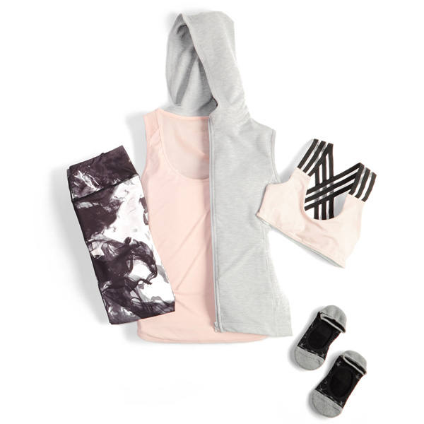 ballet workout outfits: blush