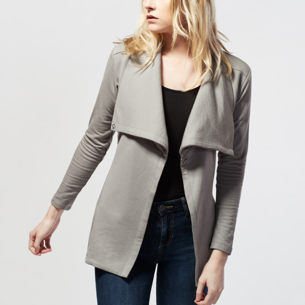 ba5b97d8 Wrap Front Belted Coat Pebble   Wantable