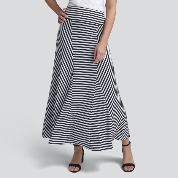 49dc6508e2 Stripe Maxi Skirt in Black and White | Wantable