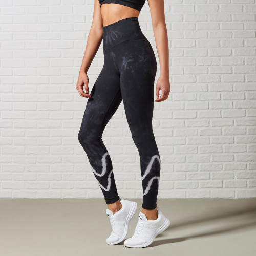 Jazz Up Basic Black Leggings: Tie Dye