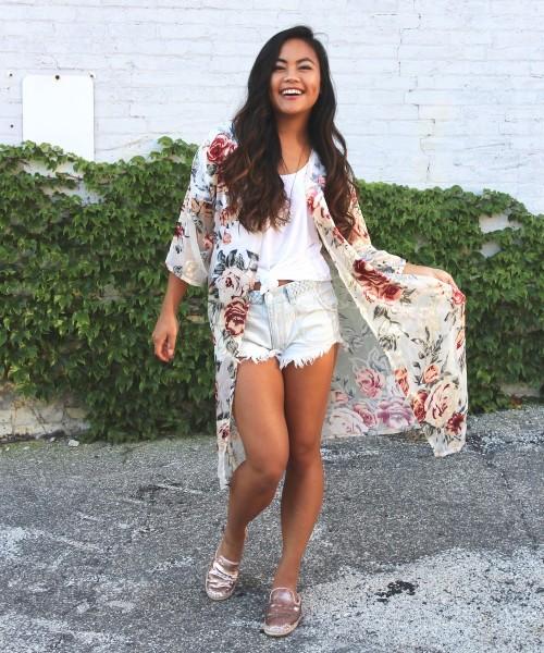 Style a Basic Tee: Kimono