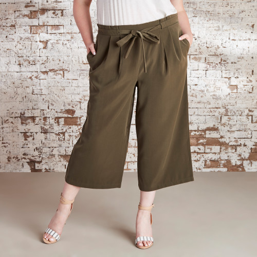 Non-Denim Pants for Fall: Cropped Wide-Leg Pants