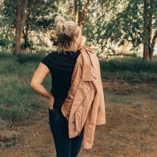 fall jacket styles: moto jacket