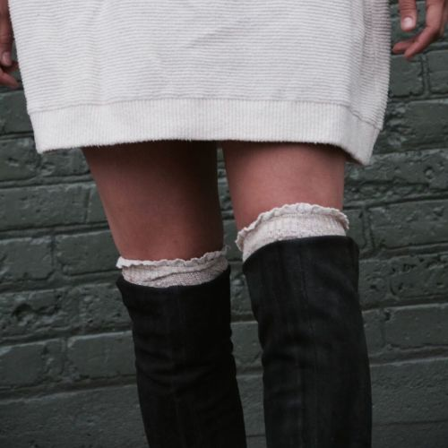 socks with boots: knee high