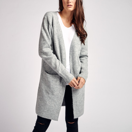 fall and winter essentials: long cashmere cardigan