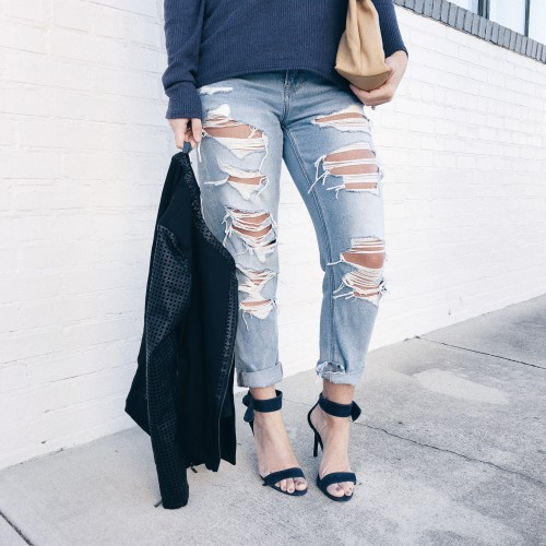 straight-leg denim