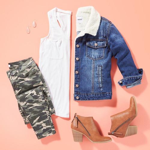 winter wardrobe style essentials: sherpa-lined jacket