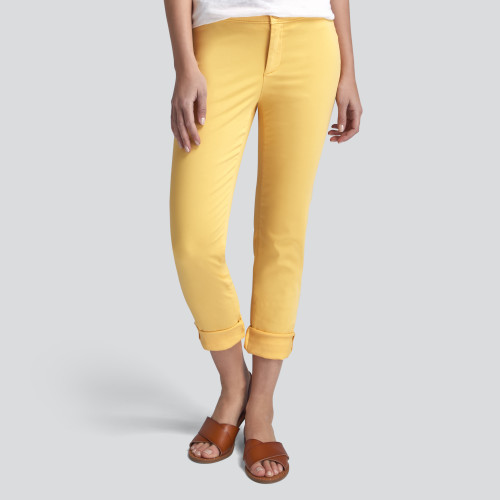 winter to spring: colored chinos