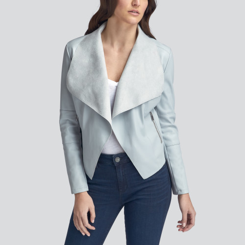 what to wear: drape front jacket