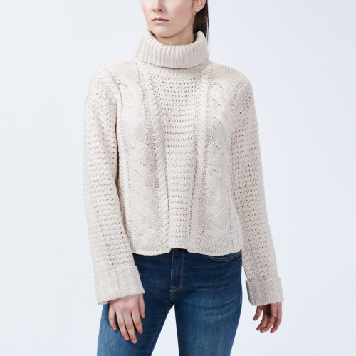 what to wear: chunky knit sweater