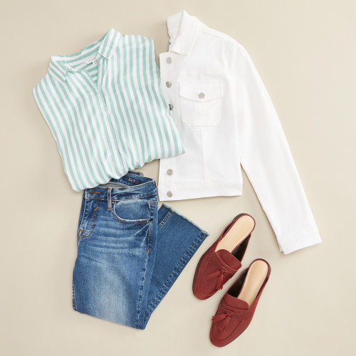 green outfits: mint green stripes