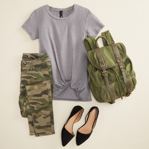 green outfits: camo