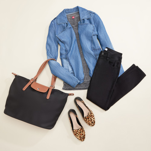 double denim: play with proportion