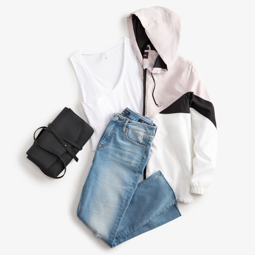 mom outfits: windbreaker jacket