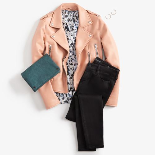 mom outfits: moto jacket