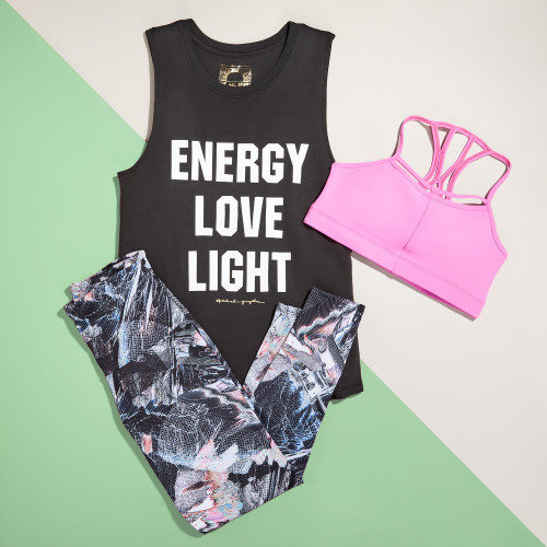 fitness graphic tees: energy love light