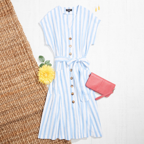 cute summer outfits: midi dress