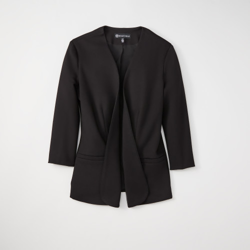 summer business casual: black blazer