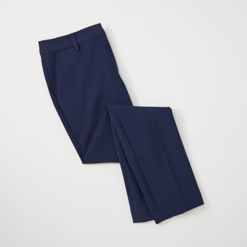 summer business casual: navy slacks