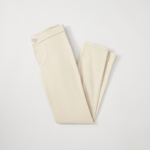 summer business casual: cream slacks