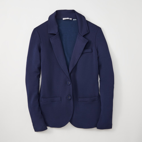 summer business casual: navy blazer