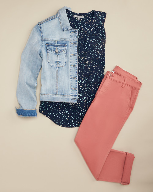 trouser: coral trouser