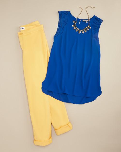 trouser: yellow trouser