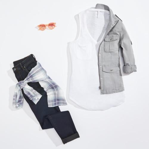 military jacket: grey jacket