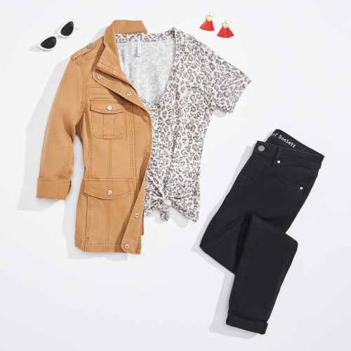 military jacket: tan jacket