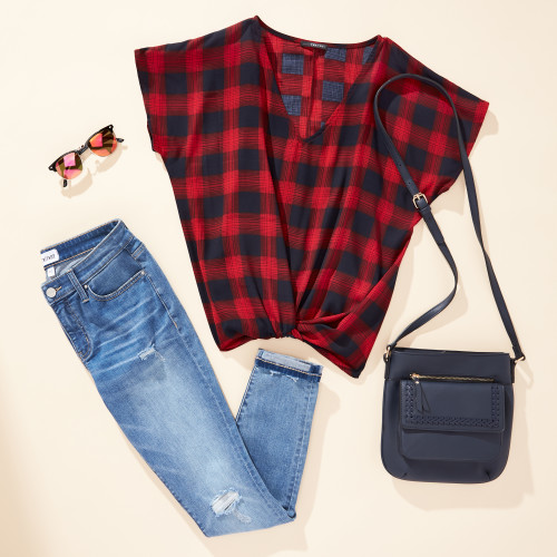 labor day outfits: short-sleeve plaid