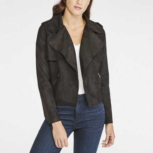 fall wardrobe: suede moto jacket