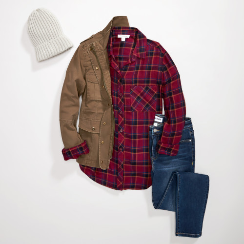 fall schedule: utility jacket & plaid