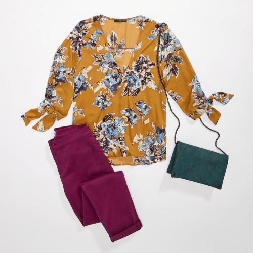 fall schedule: printed blouse