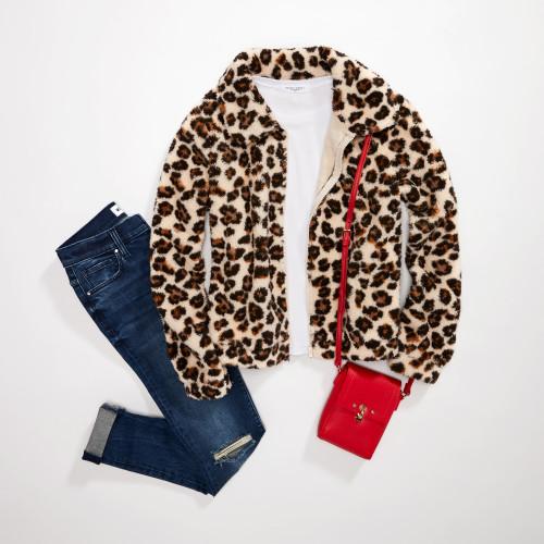 fall schedule: leopard jacket