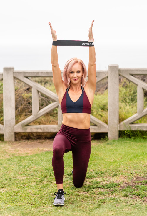 full body workout: kneeled shoulder press