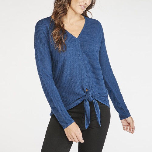 fall sweaters: tie front sweater