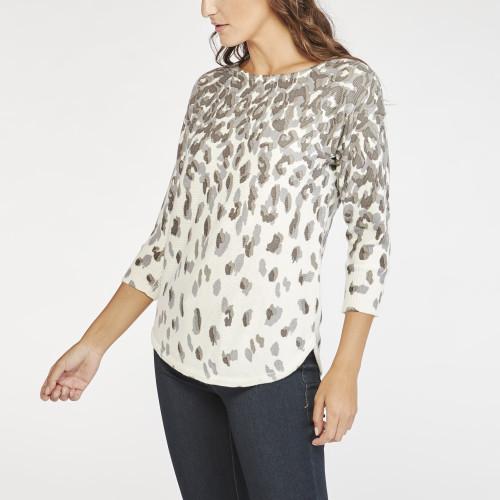 fall sweaters: animal print sweater