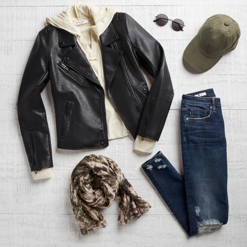 game day: moto jacket