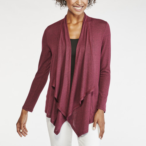 office outfits: draped front cardigan