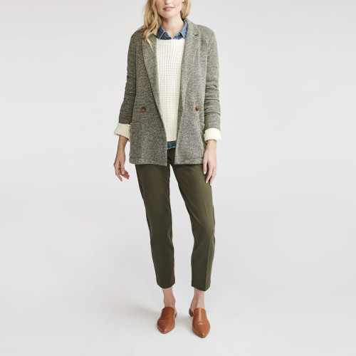 how to layer: tweed blazer