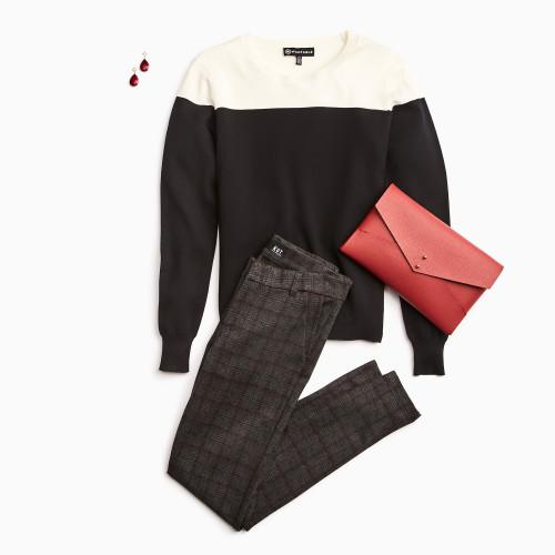 plaid outfits: plaid pants