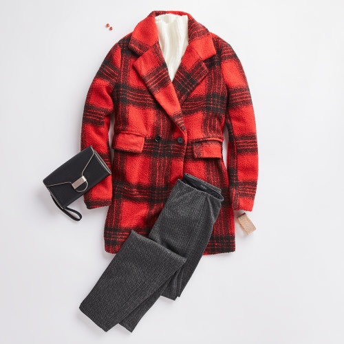 holiday party: plaid jacket