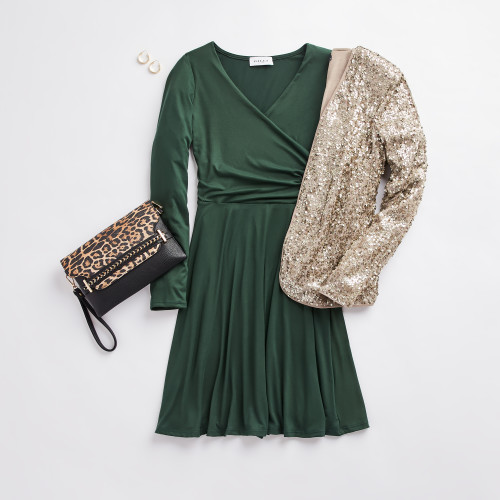 holiday party: sequin blazer