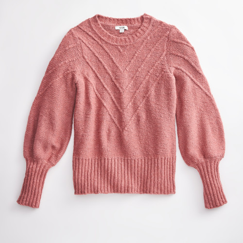 winter clothing: crew neck sweater