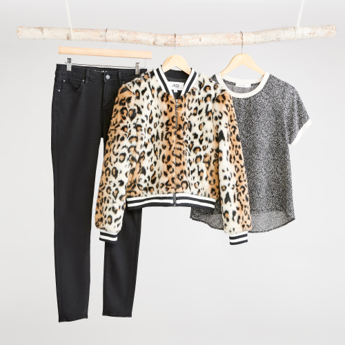 winter jackets: leopard jacket